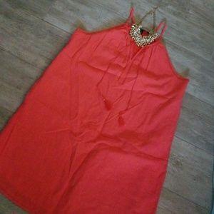 💖👉 Coral cotton sundress
